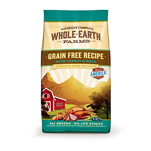 Whole Earth Farms Grain Free Turkey & Duck Dog Food, 12 lbs.