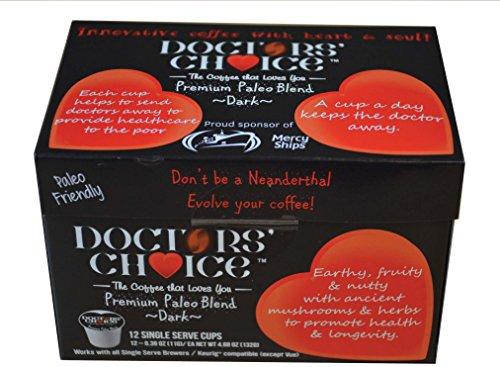 """Doctors Choice""""Premium Low Acid Paleo Coffee""""(12 Count)"""