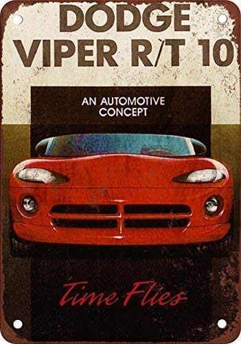 WallDector 1992 Dodge Viper R/T 10 Iron Poster Painting Tin Sign Vintage Wall Decor for Cafe Bar Pub Home Beer Decoration Crafts