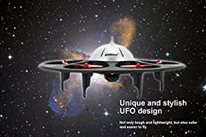 UDI U845 Voyager 6 UFO RC Drone with 720P HD Camera Headless HexaCopter Drone for Beginners by UDI RC