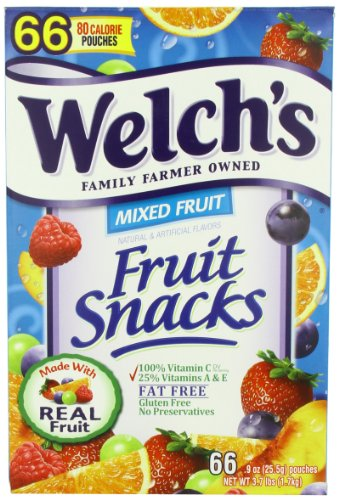 Welch's Fruit Snacks, Mixed, 66 count, 3.7 Pounds