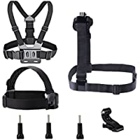VVHOOY Adjustable Head Strap Belt Strap Harness Shoulder Strap Mount for Action Camera