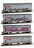 Micro-Trains MTL N-Scale Covered Hoppers Soo Line/CP Rail Graffiti/Weathered 4Pk