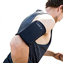 Phone Armband Sleeve: Best Running Sports Arm Band Strap Holder Pouch Case for Exercise Workout Fits iPhone SE 6 6S 7 8 X Plus iPod Android Samsung Galaxy S5 S6 S7 S8 Note 4 5 Edge LG HTC Pixel Large