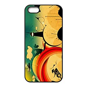 Creative Tower Graffiti Custom Protective Hard Phone Cae For Iphone 5s