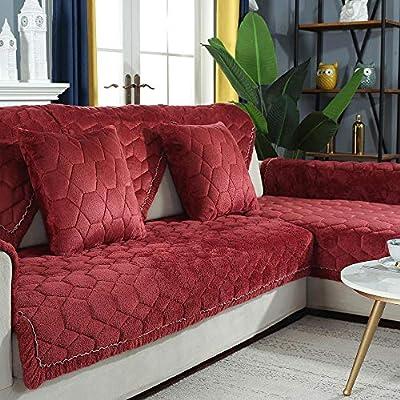 YUTJK Sectional Sofa Cover,Armchair Cover,Thicken Plush
