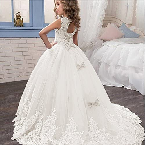 438099eba7 CEZOM Vintage Lace Flower Girl Dresses First Communion Dress Princess Kids  Prom Party Ball Gown