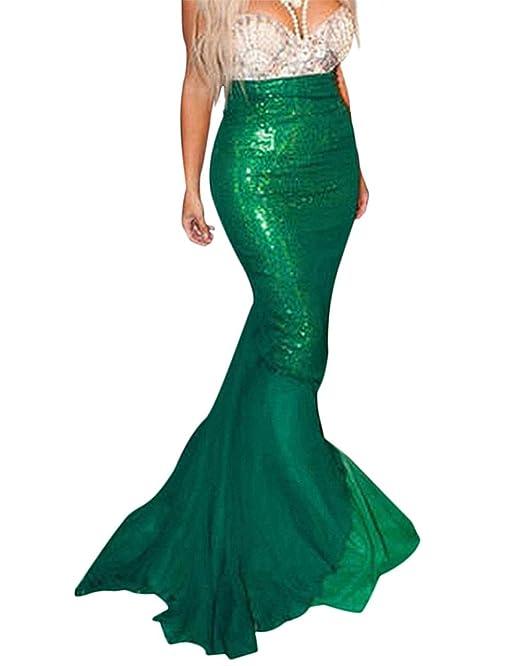 Amazon.com: Mermaid Costume Womens Fancy Dress Sequins Fish ...