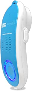 Portable Wireless Waterproof Handset Speaker - Bluetooth Compatible Rechargeable Battery Powered Shower Outdoor Loud Speaker w/ Microphone - USB Charger - iPhone, Android - Pyle Sport PBTWP24BL (Blue)