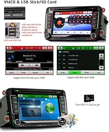 erisin es7298 C 7 pulgadas reproductor de DVD de coche gps para Passat Altea Golf 6: Amazon.es: Electrónica