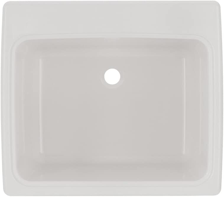 Swan SSUS1000.010 Dual Mount Solid Surface Utility Sink - White, 22-in L X 25-in H X 13.5625-in H,