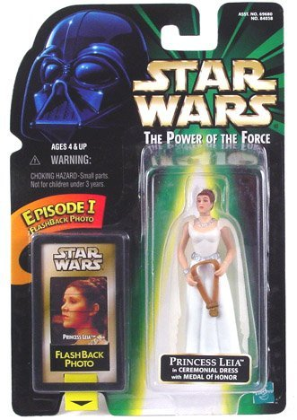 Star Wars POTF Action Figure with Flashback Photo - Princess Leia in -