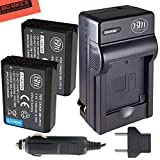 BM Premium 2-Pack of LP-E10 Batteries and Battery Charger Kit for Canon EOS Rebel T3, T5, T6, Kiss X50, Kiss X70, EOS 1100D, EOS 1200D, EOS 1300D Digital Camera
