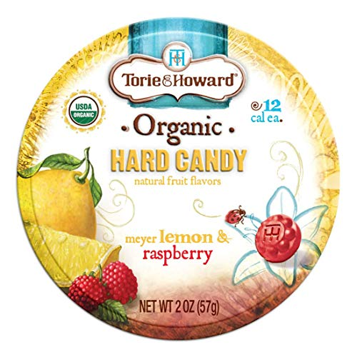 Torie and Howard Organic Hard Candy Lemon and Raspberry, 2 Ounce