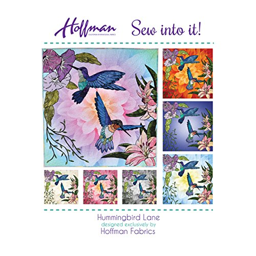 (Hoffman of California 0572708 Hoffman Lane Quilt Kit Hummingbird Fabric by The Yard)