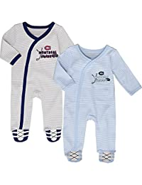 Montreal Canadiens Newborn Hockey's Best 2-Piece Long Sleeve Coverall Set