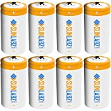 SunLabz D Rechargeable Batteries, Ultra-Efficient NiCD, 8 Pack