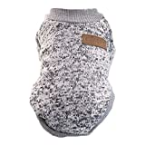 TOOGOO(R) Classic Winter Warm Dog Clothes Puppy Cat Jacket Fashion Soft Sweater Clothes For Chihuahua Yorkie S gray