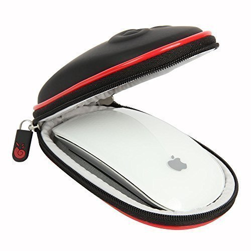 Hermitshell Hard EVA Storage Carrying Case Bag Fits Apple Magic Mouse (I II 2nd Gen) Carabiner (Black)