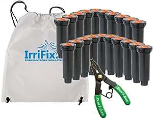 "Lluvia pájaro 1800series 4""emergente aspersor Bundle por irrifix–20unidades–incluyendo Pull Up Tool & irrifix bolsa de almacenamiento"