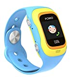 POMO R2 Smart Watch GPS Locator for Kids (Blue) with SOS Function, Pedometer, Touch Screen, Phone/Messaging, Precision Locators, Soft Silicone Strap, and More!