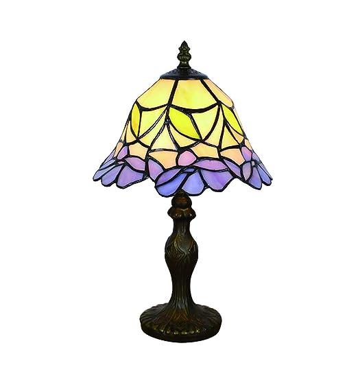 Tokira Lámpara de Mesa Estilo Tiffany de 8 Pulgadas, Luz Nocturna ...