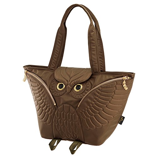 401 Bag Tote Ow Flying Owl Morn 301 Creations Brown w1CEqPnX4x