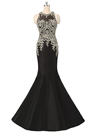 Dressytailor Womens Mermaid Beaded and Embroidered Prom Dresses Evening Gown