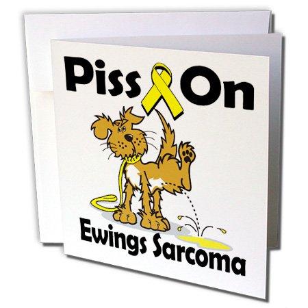 3dRose Dooni Designs Cause Awareness Ribbon Designs - Piss On Ewings Sarcoma Awareness Ribbon Cause Design - 1 Greeting Card with envelope (gc_115836_5) -