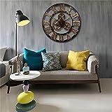 Raza Charminer Oversized 3D Iron Decorative Wall Clock Retro Big Art Gear Roman Numerals Design The Clock On The Wall New Arrival