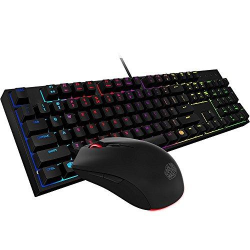 Cooler Master SGB-3040-KKMF1-US MasterKeys Lite L Gaming Keyboard & Mouse Combo, 6 Zoned RGB LED Backlit, On The Fly (Certified ()