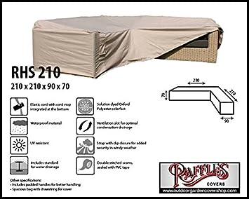 Amazonde Raffles Covers Rhs210 Loungemöbel Abdeckschutz L Form 210