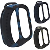 Rapidotzz 3 in 1 Pack MI3 Silicone Camouflage Army Bands/Belts Straps Compatible for Xiaomi Mi Band 3