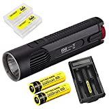 Bundle: Nitecore EC4S 2150 Lumens CREE XHP50 LED Flashlight +1 x Nitecore UM20 Charger+2x Nitecore 2600mAh 18650 Batteries+ 2xSkyben Battery Case