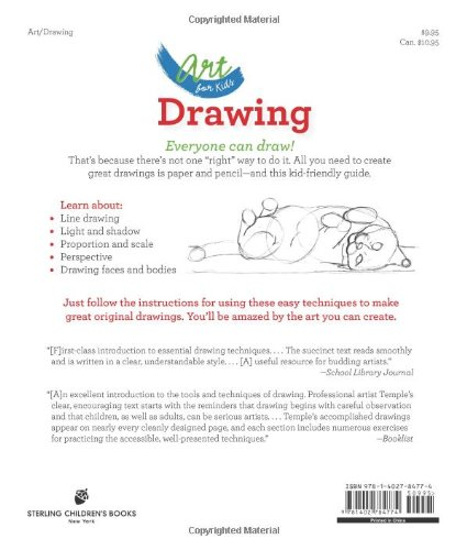 art for kids drawing the only drawing book youll ever need to be the artist youve always wanted to be kathryn temple 0884284872863 amazoncom books - Children Drawing Books