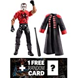 Sting w/ Trench Coat & Bat: WWE Elite Collection Action Figure Series + 1 FREE Official WWE Trading Card Bundle