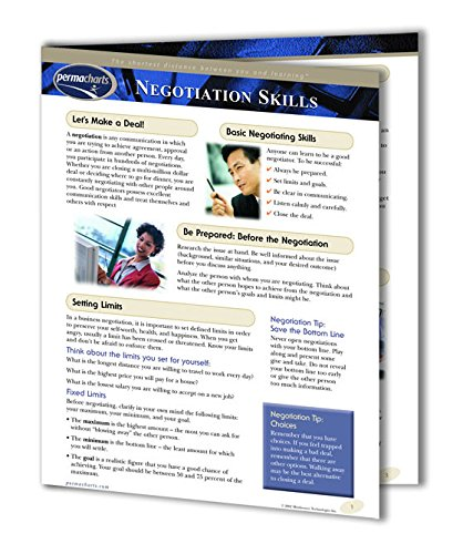 (Negotiation Skills Guide - Personal and Business Development Quick Reference Guide by Permacharts)
