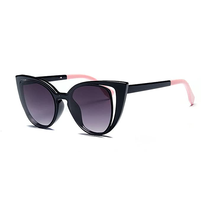 1159dbb22c Image Unavailable. Image not available for. Color  Tansle Plastic Fame  Cateye Mirrored Sunglasses For Women Classic Style ...