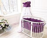 ComfortBaby ® erweiterbares Babybett Kinderbett SmartGrow 7in1 aus MASSIVHOLZ in weiss - multifunktional nutzbar als Laufstall, Beistellbett, Minibett, Stuhl und Tisch Kombination
