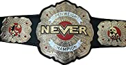 Open Weight Never Wrestling Beautifully Decorated With Stones Gold Plated Championship Belt