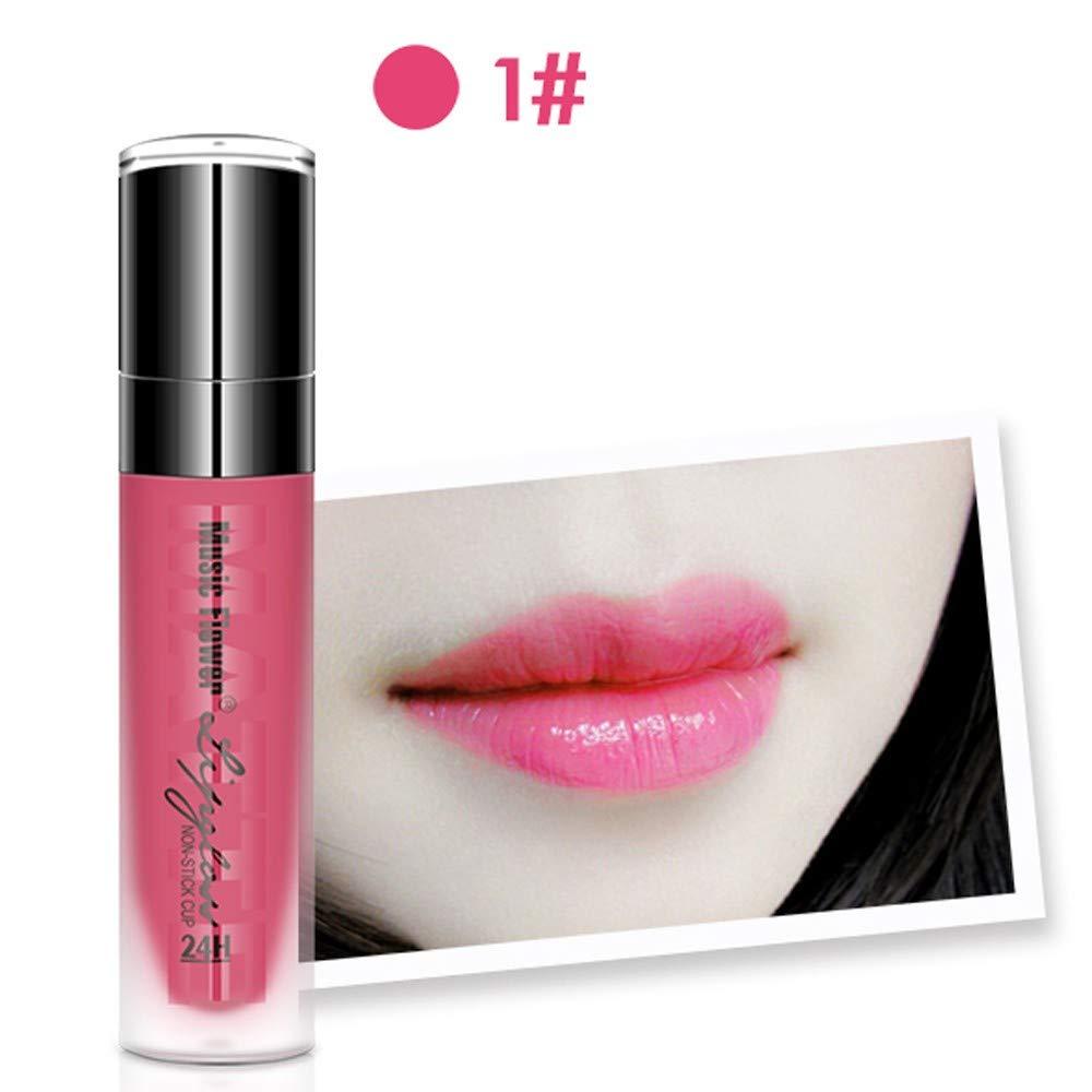NEEKEY Waterproof Long-Lasting Lip Gloss Liquid, Shiny Lipstick Beauty Makeup Lip Gloss