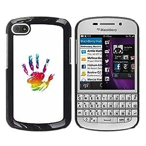 Be Good Phone Accessory // Dura Cáscara cubierta Protectora Caso Carcasa Funda de Protección para BlackBerry Q10 // Paint Hand Mark Colorful Art Oil