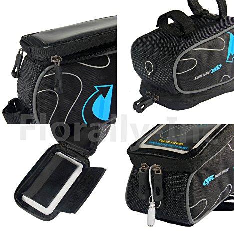 Fahrradtasche Rahmentaschen, Florally Fahrrad Rahmentasche Frarradschnalletasche Radfahren Rahmentaschen, Wasserabweisende Fahrradtasche , Steuerrohr Taschen Packung, Handy Handyhalterung, Navigation