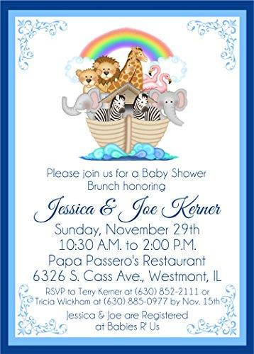 (Noah's Ark Baby Shower Invitations )