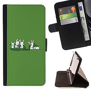 For LG G2 D800 - Funny Rabbit Murder /Funda de piel cubierta de la carpeta Foilo con cierre magn???¡¯????tico/ - Super Marley Shop -