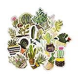 Cute Cactus Sticker, Golden Design Element Cactus& Succulent Plants Sticker for Scrapbook Laptop Journal Bullet Craft Decorative(24PCS)