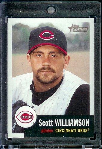 (2002 Topps Heritage Baseball Card #153 Scott Williamson Mint)