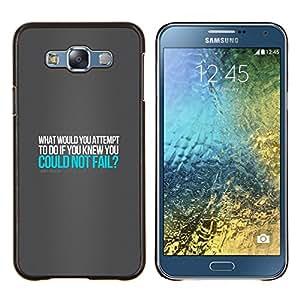 EJOOY---Cubierta de la caja de protección para la piel dura ** Samsung Galaxy E7 E700 ** --ROBERT SCHULLER CITA