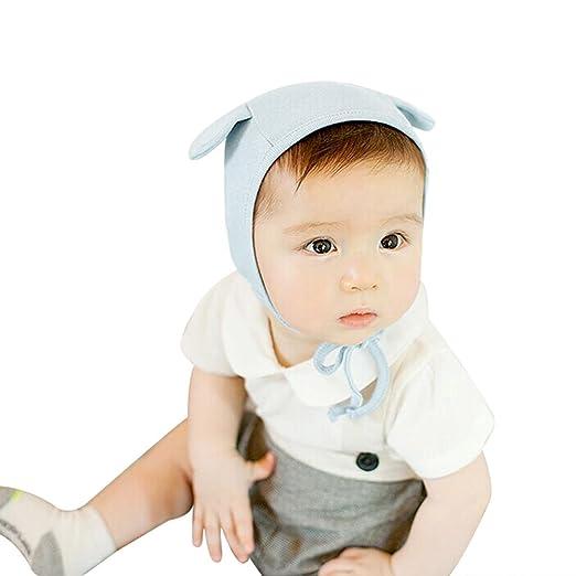 f5a412799c201 JANGANNSA Newborn Baby Hospital Hat Infant Set Head Cap Lovely Ears Belt  Beanie 0-8Months