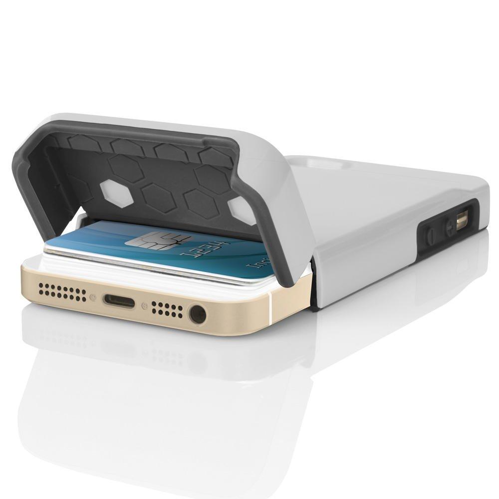 Amazon.com  Incipio Stashback for iPhone 5 5s SE - White Gray  Cell Phones    Accessories 4bb1b72f0